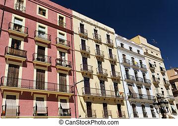 (spain):, edificios, histórico,  tarragona