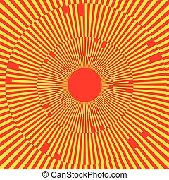 Illustration with rays, beams, radial - radiating lines....
