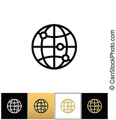 Internet globe earth world vector icon