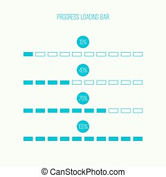 Linear loader bar - Set of vector downloaders. progress bar...
