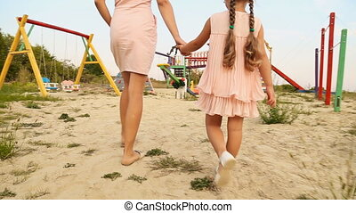Mom and daughter are