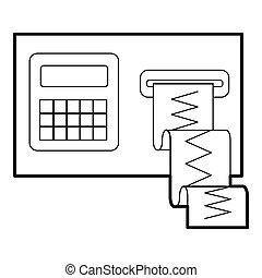Cardiograph icon, outline style - Cardiograph icon. Outline...