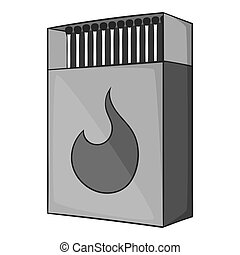 Box matches icon, gray monochrome style - Box matches icon....
