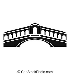 Venice bridge icon, simple style - Venice bridge icon....