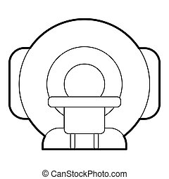 Tomograph icon, outline style