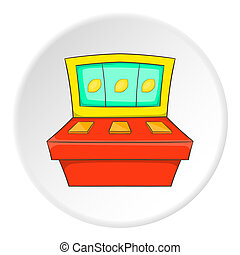 Slot machine icon, flat style