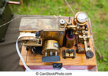 old telegraph - The old telegraph. The ancient technological...