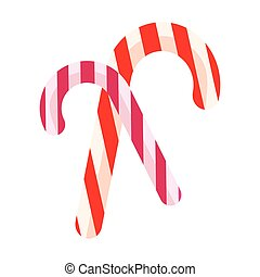 Color icon, christmas, candy, candy on a white background....