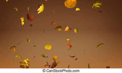 Falling leaves loopable - Seamlessly loopable animation of...