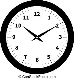 Old clock isolated on white background. vector illutration