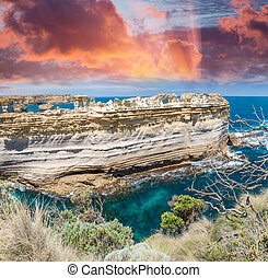 The Razorback, a rock formation at the Loch Ard Gorge...