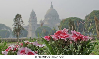 Victoria Memorial, Kolkata , Calcutta, West Bengal, India. A...