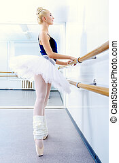 lightness - Beautiful ballet dancer training near the ballet...