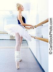 lightness - Beautiful ballet dancer training near the ballet...