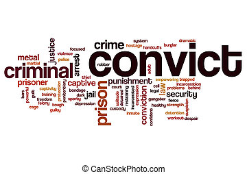 Convict word cloud concept