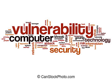 Vulnerability word cloud concept
