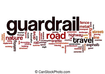 Guardrail word cloud concept