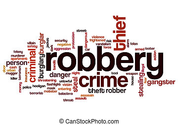 Robbery word cloud concept