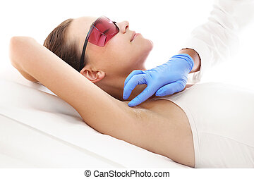 Laser hair removal - Woman on laser hair removal