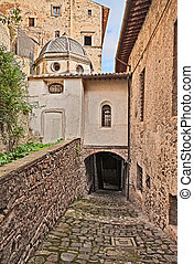 ancient alley in Bolsena, Viterbo, Lazio, Italy - Bolsena,...