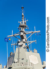Mast of a military ship