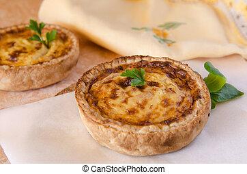 Quiche Lorraine - Typical French food: Quiche Lorraine.