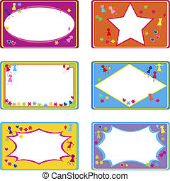 cute labels for children use