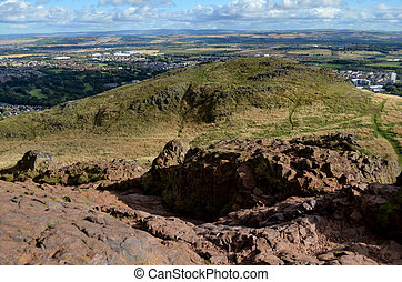 Rocky Perch on Top of Arthur's Seat - Rock crest on top of...