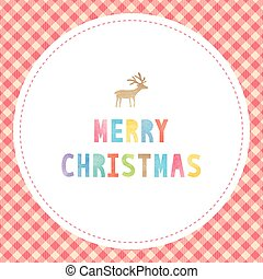 Colorful watercolor on Merry Christmas text.