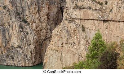 'El Caminito del Rey' loopable time lapse, route end -...