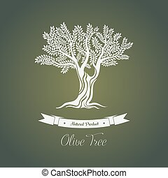 Olive tree logo with branches