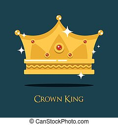 Royal crown for king or princess, queen gold tiara. Monarch...