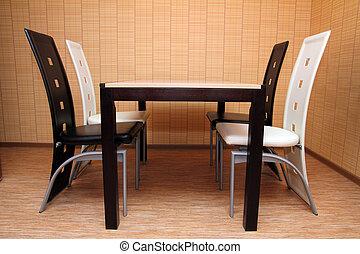 intérieur,  table, chaises
