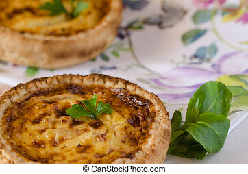 Quiche Lorraine - Typical French food: Quiche Lorraine.