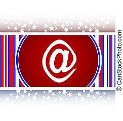 E-mail icon glossy button