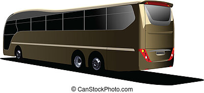 Tourist bus. Coach. Vector illustr