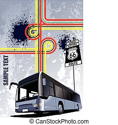 Cover for brochure with bus image.