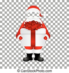 Template Santa Claus to insert a human face vector