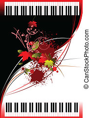 Cover for brochure with Two Pianos. Vector