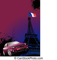 Cover for brochure with Paris imag