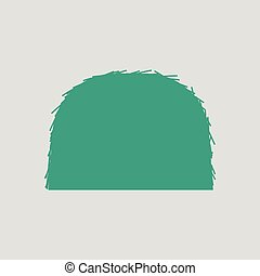 Hay stack icon. Gray background with green. Vector...