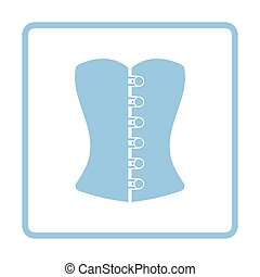Sexy corset icon. Blue frame design. Vector illustration.