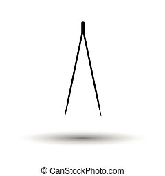 Electric tweezers icon. White background with shadow design....