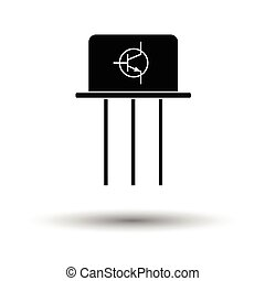 Transistor icon. White background with shadow design. Vector...