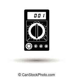 Multimeter icon. White background with shadow design. Vector...