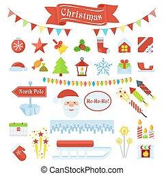 big set of christmas icons 2
