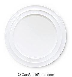 prato, branca, isolado, vazio