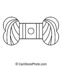 Skein of yarn icon, outline style - Skein of yarn icon....