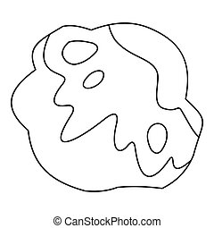Moonstone icon, outline style - Moonstone icon. Outline...