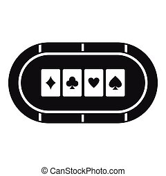 Poker table icon, simple style - Poker table icon. Simple...